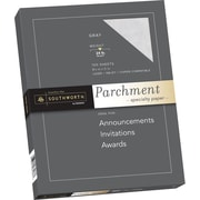 "SOUTHWORTH® Parchment Specialty Paper, 8 1/2"" x 11"", 24 lb., Parchment Finish, Gray, 100/Box"