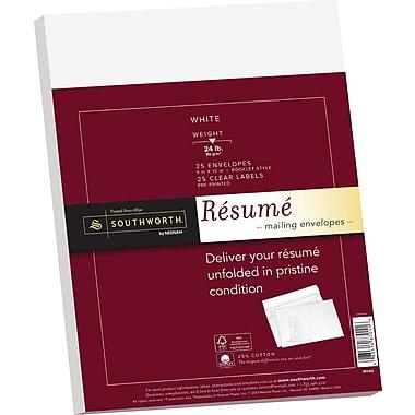 SOUTHWORTH® 25% Cotton Resume Envelope, 9