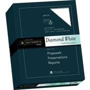 "SOUTHWORTH 25% Cotton Diamond White Business Paper, 8 1/2"" x 11"", 24 lb., Wove Finish, White, 500/Box"