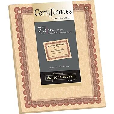 SOUTHWORTH Parchment Certificates, 8 1/2