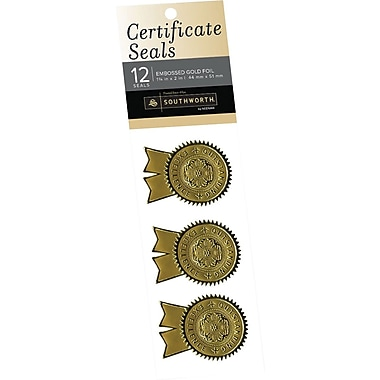 SOUTHWORTH Certificate Seals, 1 1/4