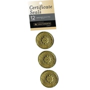 "SOUTHWORTH Certificate Seals, 1 3/4"", Foil, Gold Achievement, 12/Pack"