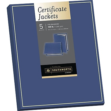 SOUTHWORTH Certificate Jacket, Foil Enhanced, 9