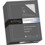 """SOUTHWORTH Granite Specialty Paper, 8 1/2"""" x 11"""", 24 lb., Granite Finish, Gray, 500/Box"""