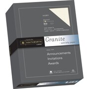 "SOUTHWORTH Granite Specialty Paper, 8 1/2"" x 11"", 24 lb., Granite Finish, Ivory, 500/Box"