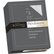 "SOUTHWORTH® Parchment Specialty Paper, 8 1/2"" x 11"", 24 lb., Parchment Finish, Gray, 500/Box"