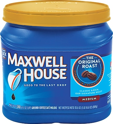 Maxwell House Original Roast Ground Coffee Regular 30.6 oz. Can