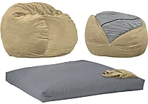 CordaRoy's Beanbag Chair Convertible Full Size Bed, Assorted Colors