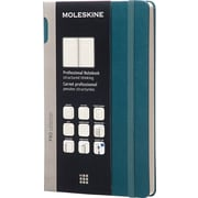 "Moleskine Pro Collection Professional Notebook, Large, Tide Green, Hard Cover, 5"" x 8-1/4"""