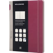 "Moleskine Pro Collection Professional Notebook, Extra Large, Plum Purple, Hard Cover, 7-1/2"" x 10"""