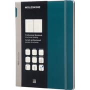 "Moleskine Pro Collection Professional Notebook, Extra Large, Tide Green, Hard Cover, 7-1/2"" x 10"""