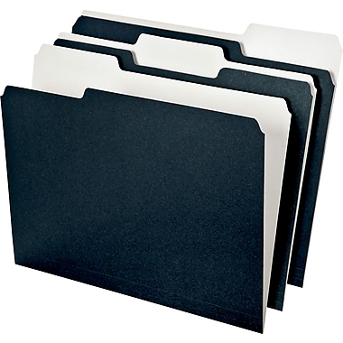 Pendaflex Envirotec™ 100% Recycled Colored Top-Tab File Folders, Black & White, LETTER-size Holds 8 1/2