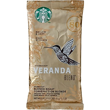 Starbucks® Veranda Blend Ground Coffee, Regular, 2.5 oz., 18 Packets