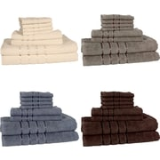 Lavish Home 8 Piece 100% Egyptian Cotton Plush Bath Towel Set