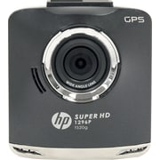 HP F520G Car Dash Cam Video recorder Super HD 1296 with GPS Ultra Wide Angle 156 4-quadrant display