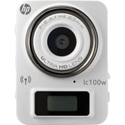 HP LC100W White Mini Wifi Sports Cam with 4K resolution & time lapse recording