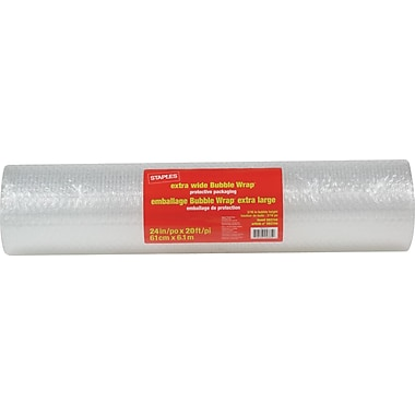 Staples® Extra-Wide Bubble Wrap*, 24
