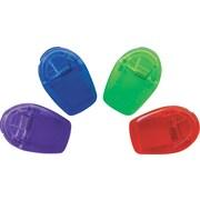 """Staples® Asst. Translucent Cubicle Hooks, 1"""" Width, 4PK"""