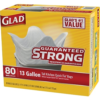 Glad Quick-Tie Tall Kitchen Bags