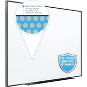 Quartet Fusion Nano-Clean Magnetic Whiteboard, Black Aluminum Frame, 6'W x 4'H