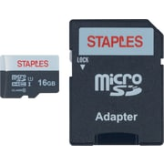 Staples 16GB High Speed Micro SDHC Card Class 10 with SD Adapter