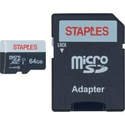 Staples 64GB High Speed Micro SDHC Card Class 10 with SD Adapter