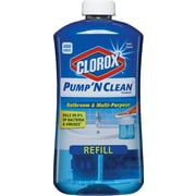 Clorox® Pump 'N Clean™ Bathroom & Multi-Purpose Cleaner Refill, Rain Clean Scent, 24 oz.