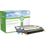 Sustainable Earth by Staples® Reman Samsung CLP-315, Black and Color Laser Toner Cartridge, (SEBCLP315MPRDS), 4PK