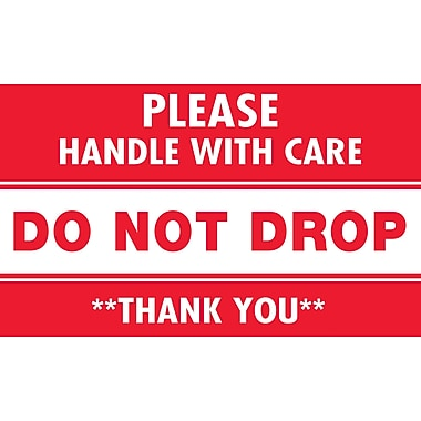 Tape Logic Please Handle with Care Do Not Drop Staples® Shipping Label, 3