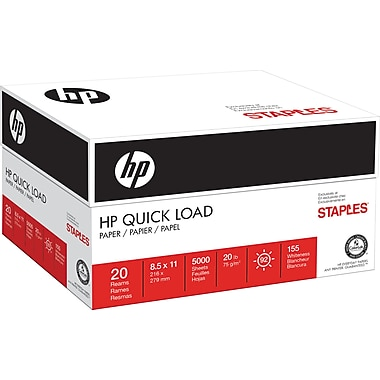 STAPLES Exclusive, HP® Quick Load Paper, 8 1/2