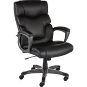 Staples 28359 Tarington Bonded Leather Managers Chair, Fixed Arms, Black