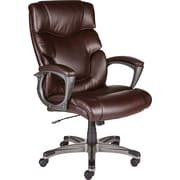 Staples 28360 Tarington Bonded Leather Managers Chair, Brown