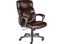 Staples Tarington Bonded Leather Managers Chair, Brown