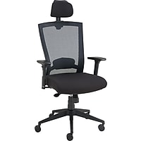 Staples Telfair Black Mesh Chair with Headrest (Black)