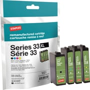 Staples Dell Series 33L Reman Ink, Multipack