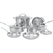 Cuisinart® Chef's 11 Piece Classic Stainless Steel Cookware Set, Silver