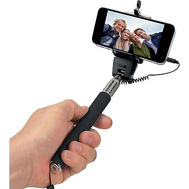 selfie stick holder for universal smartphones staples. Black Bedroom Furniture Sets. Home Design Ideas