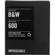 Impossible Instant Black & White 2.0 Film with Black Frame for Polaroid 600-Type Cameras