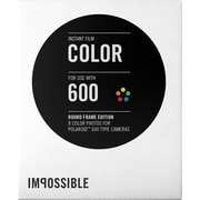 Impossible Instant Color Film for Polaroid 600-Type Cameras (White Round Frame)