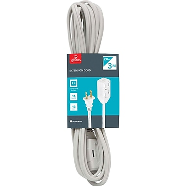 Globe Extension Cord, 3m, 3-Outlet, Indoor