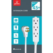 Globe Extension Cord, 4.5m, 3-Tap, 3-Wire
