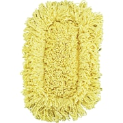 Trapper Looped-End Dust Mop Head, 12 X 5, Yellow, 12/Ct