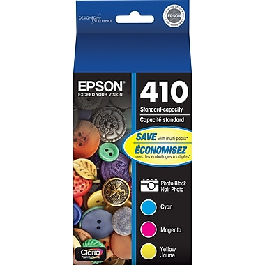 Epson - Cartouches d'encre couleur 410, cyan, magenta, jaune et noir Photo (T410520), paq./4