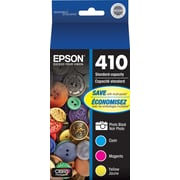 Epson 410 Color C/M/Y and Photo Black Ink Cartridges (T410520-S), Combo 4/Pack