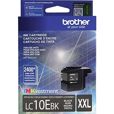 Brother LC10E Black Ink, LC10EBK, Extra High Yield