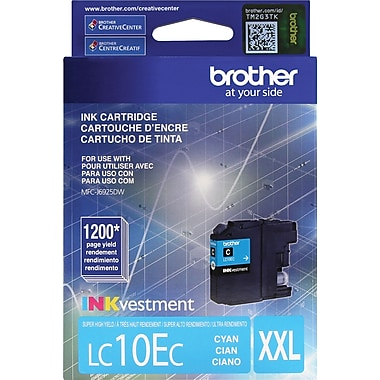 Brother LC10E Cyan Ink, LC10EC, Extra High Yield