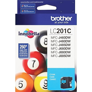 Brother LC201 Cyan Ink Cartridge, LC201C