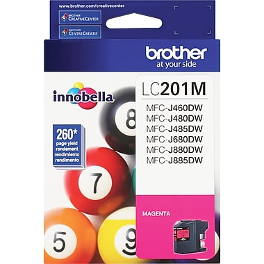Brother LC201 Magenta Ink Cartridge, LC201M