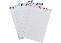 Cynthia Rowley Legal Pad, Assorted Wrinkled Mylar, 3 Pack