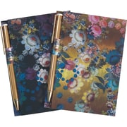 Cynthia Rowley Memo Pad with Gold Pen, Assorted Floral, 2 Pack